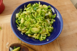 Brussels sprouts onions olive oil 16