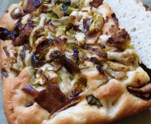Foccacia  brussels sprouts bacon